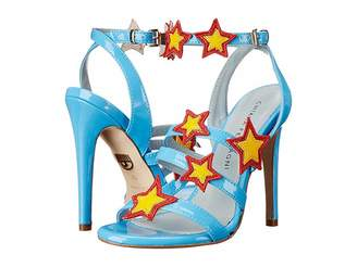 Chiara Ferragni Stars Patent Strappy Heels Women's Shoes