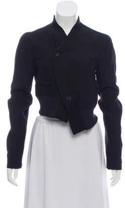 Ann Demeulemeester Cropped Long Sleeve Jacket