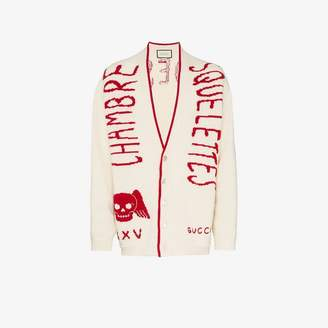 Gucci chambre squelettes wool cardigan