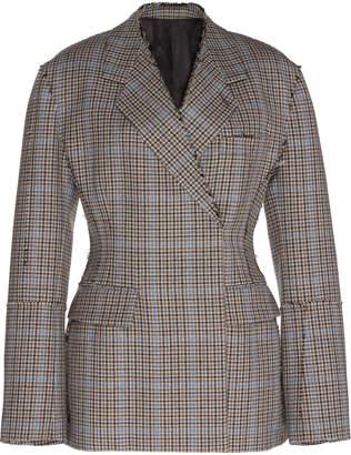 Calvin Klein Virgin Wool Hourglass Check Suit Jacket