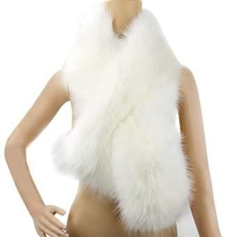 Dikoaina Women's Winter Fake Faux Fur Scarf Wrap Collar Shawl Shrug (One size, )