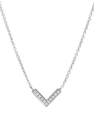 Sylvie Dana Rebecca Designs 'Sylvie Rose' Diamond V Pendant Necklace