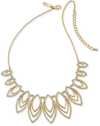 "INC International Concepts I.N.C. Gold-Tone Pavé Navette Statement Necklace, 18"" + 3"" extender, Created for Macy's"