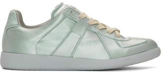 Maison Margiela Blue Satin Replica Sneakers