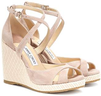 Jimmy Choo Alanah 105 suede wedge sandals