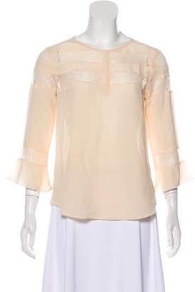 Rebecca Taylor Long Sleeve Lace Blouse