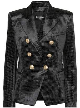 Balmain Velvet jacquard blazer