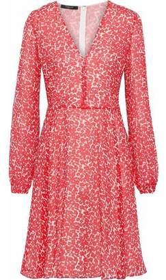 Derek Lam Floral-Print Crinkled Silk-Gauze Dress