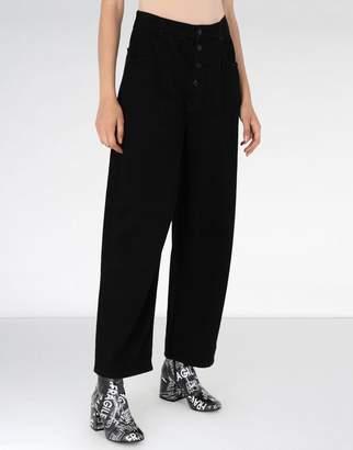 MM6 MAISON MARGIELA (エムエム6 メゾン マルジェラ) - MM6 MAISON MARGIELA high-waisted cotton trousers