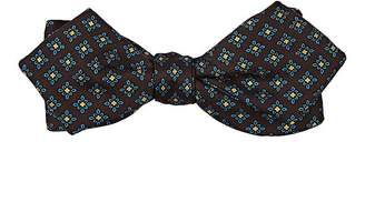 Drakes Drake's Men's Medallion-Print Silk Bow Tie