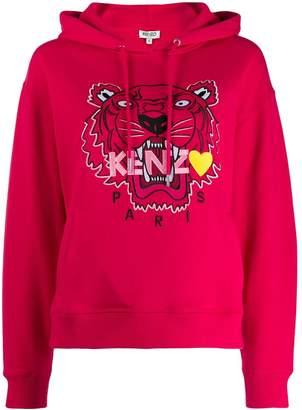 Kenzo embroidered tiger hooded sweatshirt