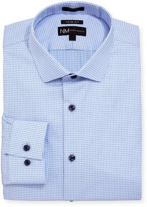 Neiman Marcus Trim Fit Dobby Texture Dress Shirt