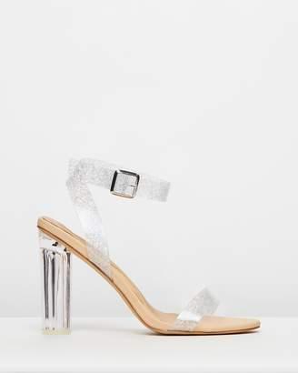 Missguided Glitter Perspex Heel Sandals