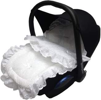 For Your Little One Broderie Anglaise Car Seat Footmuff/Cosy Toes Compatible with Mamas and Papas White