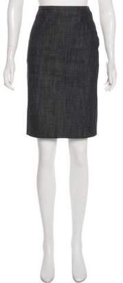 Miu Miu Knee Length Denim Skirt