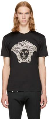 Versace Black and Gold Medusa T-Shirt