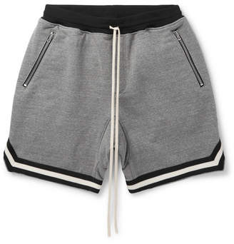 Fear Of God Wide-Leg Mélange Cotton-Blend Jersey Drawstring Shorts