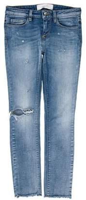 IRO Mid-Rise Distressed Jeans