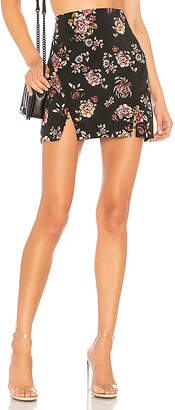 About Us Brooke Floral Mini Skirt