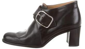 Hermes Round-Toe Leather Booties