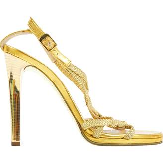 Roberto Cavalli Leather sandal