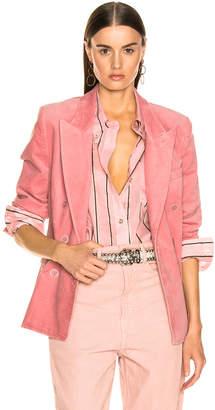 Etoile Isabel Marant Alsey Velvet Blazer in Light Pink | FWRD