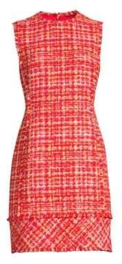 Elie Tahari Andrea Basket Weave Tweed Sheath Dress