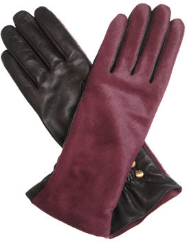 Agnelle Pony skin and leather gloves