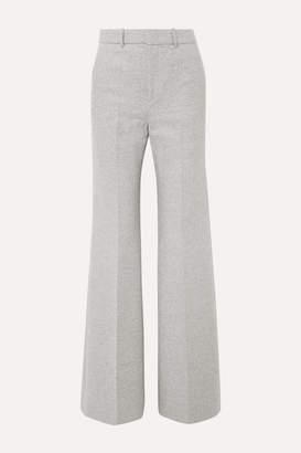 Joseph Jess Herringbone Wool-blend Bootcut Pants - Light gray