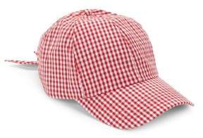 San Diego Hat Company Gingham Bow Ball Cap