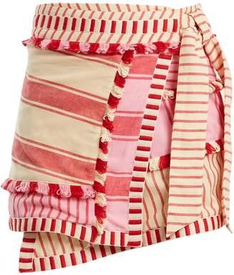 DODO BAR OR Hoza embroidered cotton wrap skirt