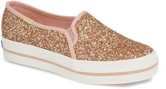 Kate Spade Keds® for Keds® x triple decker glitter slip-on sneaker