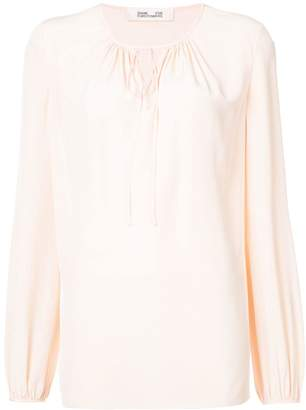 Diane von Furstenberg keyhole blouse