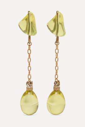 Marni Gold-tone And Resin Earrings - Yellow