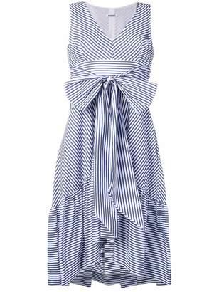 P.A.R.O.S.H. tie waist striped dress
