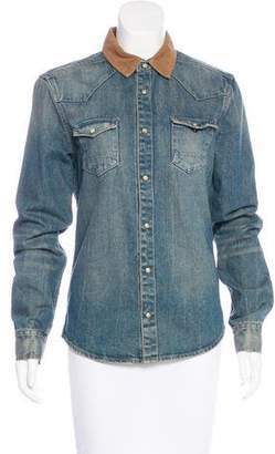 AllSaints Denim Collar Jacket