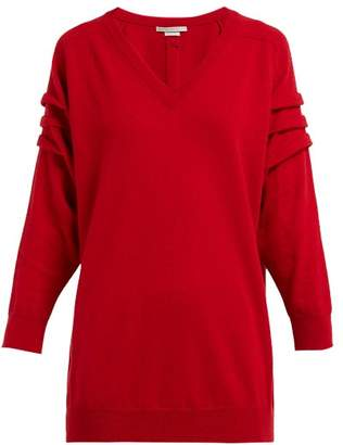 Queene and Belle V Neck Cashmere Sweater - Womens - Red