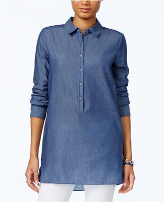 Tommy Hilfiger Chambray Tunic Shirt, Only at Macy's $79.50 thestylecure.com