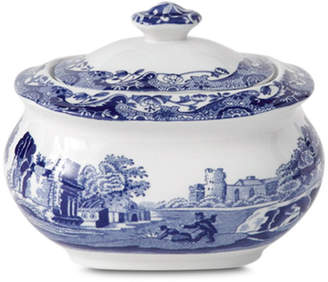 "Spode Blue Italian"" Covered Sugar Bowl"