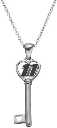 "Insignia Collection NASCAR Denny Hamlin ""11"" Stainless Steel Key Pendant Necklace"