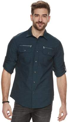 Rock & Republic Men's Zipper-Pocket Button-Down Shirt