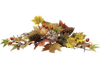 AdmiredbyNature Artifical Lotus Pod/Pumpkins/Pine Cone/ Maple Leaves/Berries Fall Festive Harvest Display Swag