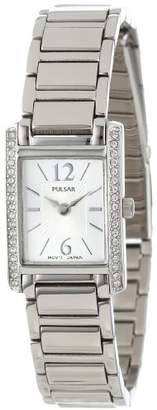 Pulsar Women's PEGC51 Crystal Accented Dress -Tone Stainless Steel Watch
