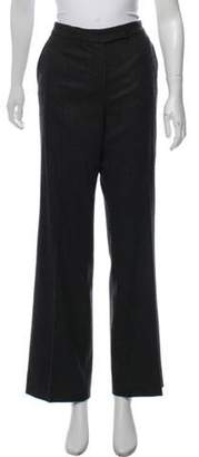 Loro Piana Mid-Rise Cashmere-Blend Pants grey Mid-Rise Cashmere-Blend Pants