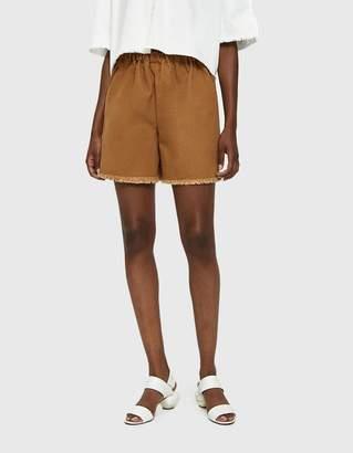 Ashley Rowe Short Canvas Shorts in Tan