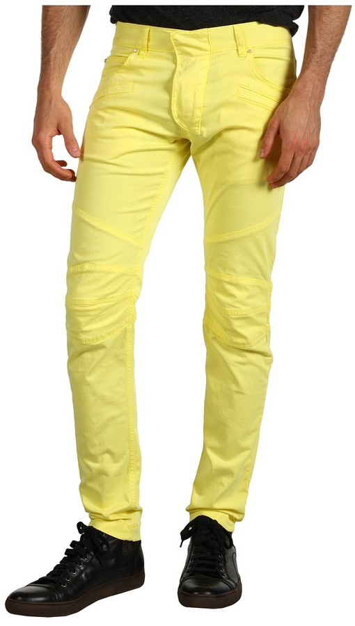 Balmain Pierre Skinny Fit Jean (Yellow) - Apparel
