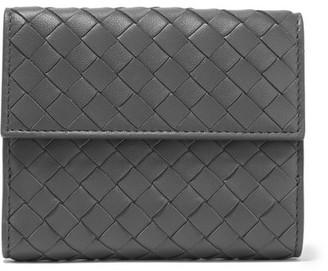 Bottega Veneta - Intrecciato Leather Wallet - Gray $550 thestylecure.com