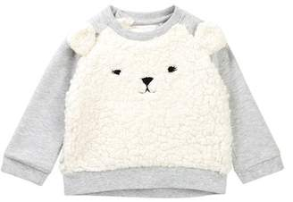 Rosie Pope Faux Fur Bear Sweater (Baby Girls)