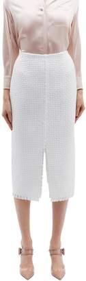Roland Mouret 'Turnley' split front lattice skirt
