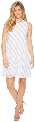 Calvin Klein Striped Trapeze Dress CD8H83HB Women's Dress